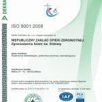 zdjęcie certyfikatu ISO ważny do 2016