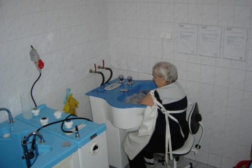 zdjęcie, pacjentka podczas hydroterapii