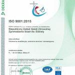 Certyfikat ISO ważny do listopada 2019 roku