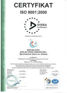 Certyfikat ISO 9001:2000 ważny do 13.11.2010
